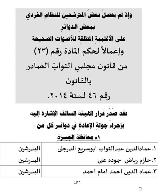 ننشر النتائج الرسمية لإنتخانات مجلس النواب2020 المرحلة الأولى كل المحافظات و جولات الإعادة إجازة للمدارس التى بهاانتخابات فقط 54920-10