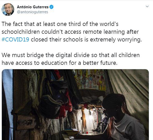 الأمين العام للأمم المتحدة - جوتيريس: ثلث أطفال المدارس فى العالم لا يمكنهم التعلم بعد 67932-10