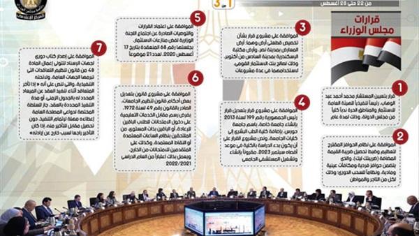 7 قرارات جديدة لمجلس الوزراء تشمل قرارات تعليمية 86012