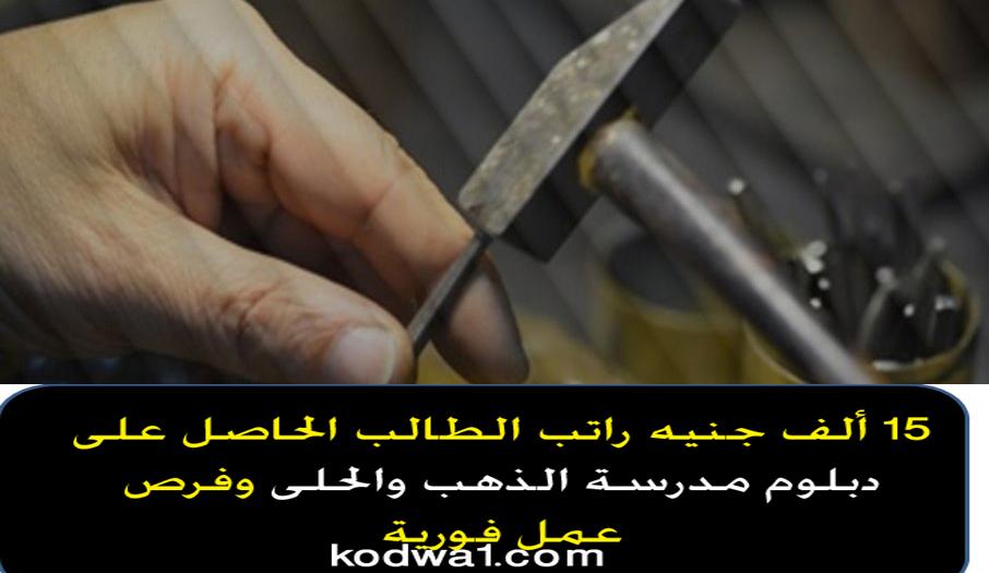 15 ألف جنيه راتب الطالب الحاصل على دبلوم مدرسة الذهب والحلى وفرص عمل فورية A_aaa10