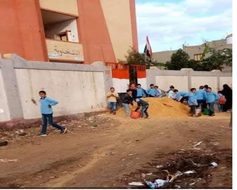"""التعليم عن صور حمل تلاميذ كفر الشيخ الرمل """"كان ضمن مشاركة مجتمعية"""" Aao15"""