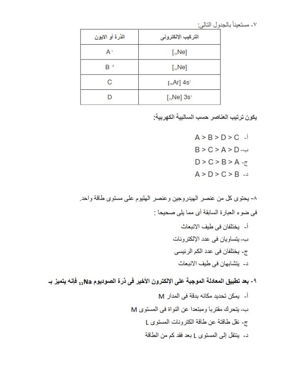 النموذج الإرشادى كيمياء    لموقع الوزارة   للصف الثانى   الثانوى  ترم أول2020 Chemis13
