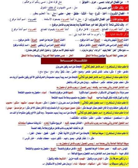 أفضل ملف تراجع منه لغة عربية ليلة امتحان الأول اثانوى2019 فيه كل حاجة Eaa_aa10