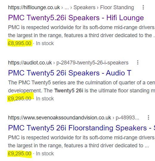 PMC OB1i floorstand speakers (Used) Price10