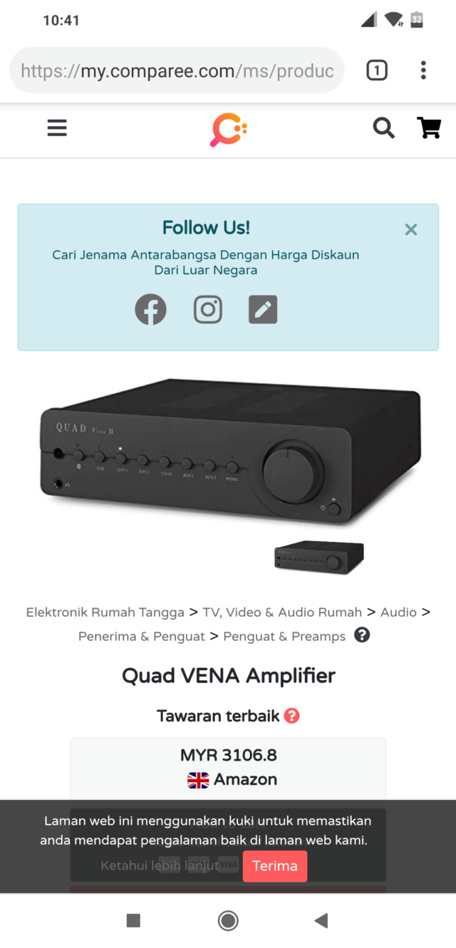Quad Vena 1 Integrated Amplifier (Open Box) Screen13