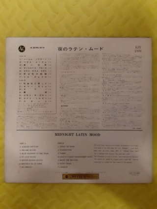 Midnight Latin Mood vinyl - Nivico Japan (used) Whats244