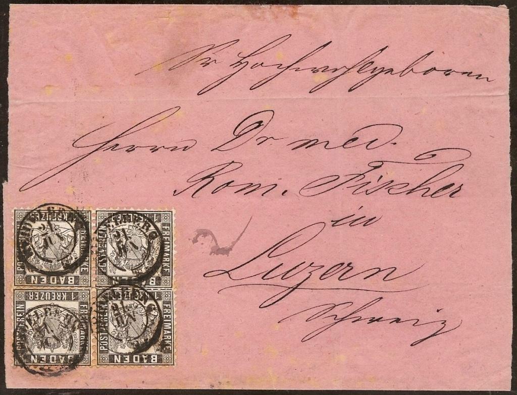 Badische Post in die Schweiz 17a-1710