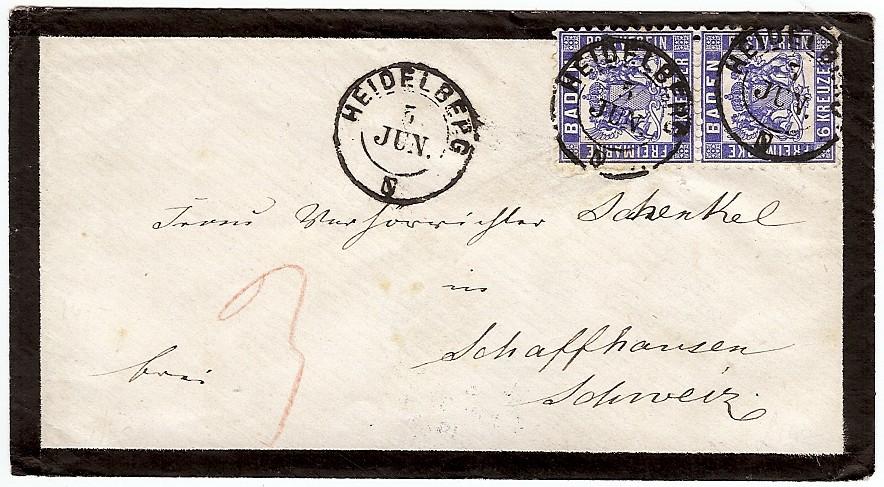 Badische Post in die Schweiz 19a-1910