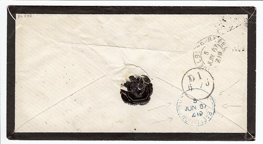 Badische Post in die Schweiz 19a-1911
