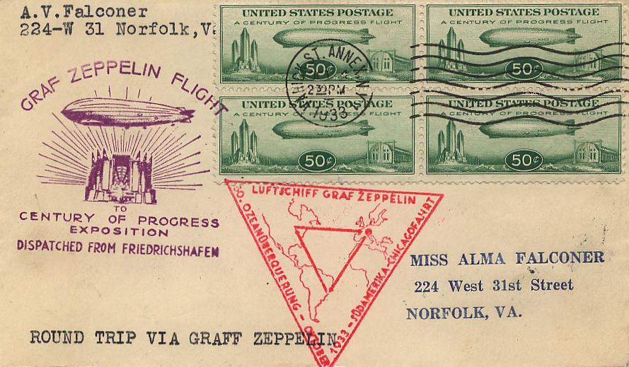 Fahrt zur Weltaustellung: Chicagofahrt Graf Zeppelin 1933 241_g010
