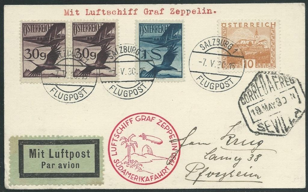nach - Zeppelinpost aus/nach Österreich 57_i_o10