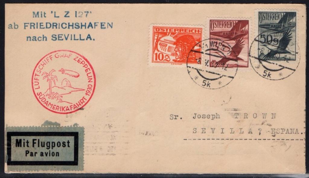nach - Zeppelinpost aus/nach Österreich 57_i_o12