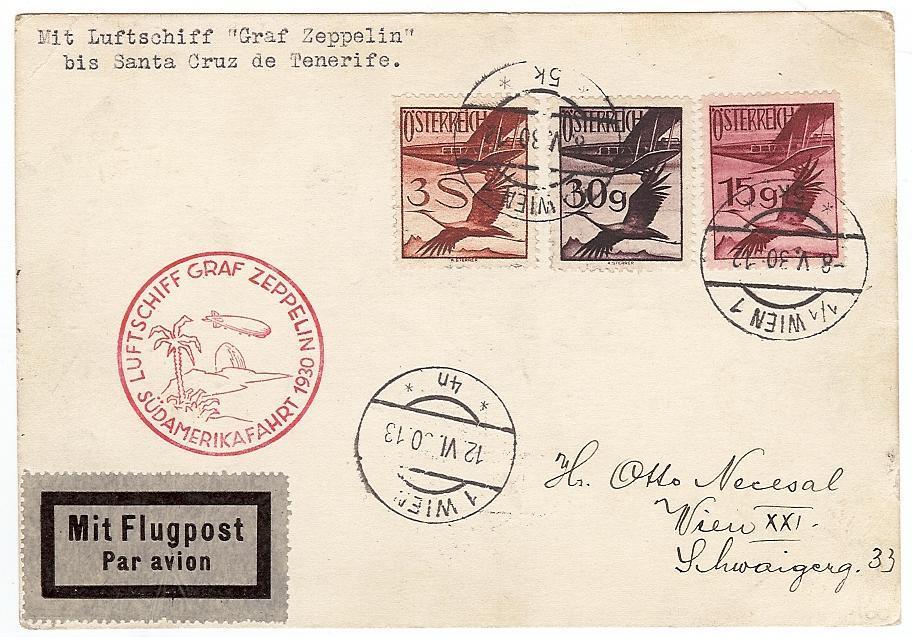 nach - Zeppelinpost aus/nach Österreich 57_j_o11