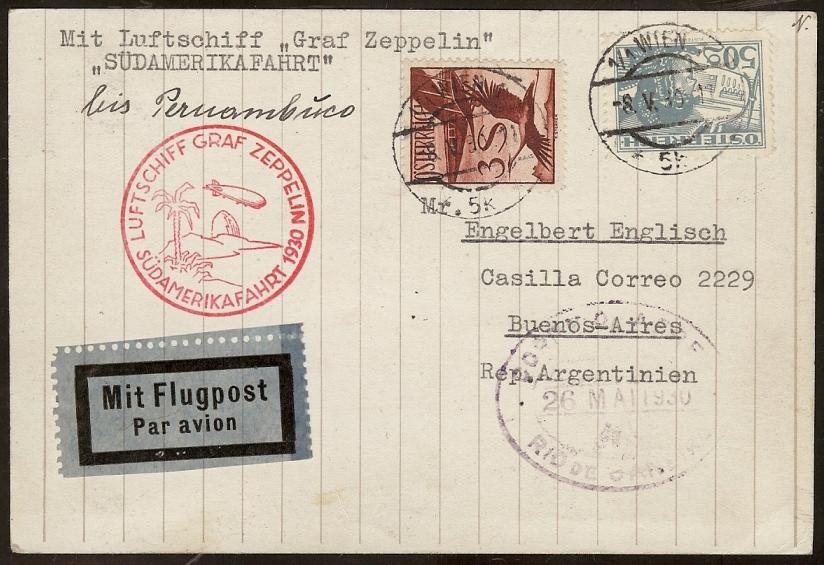 nach - Zeppelinpost aus/nach Österreich 57_k_o10