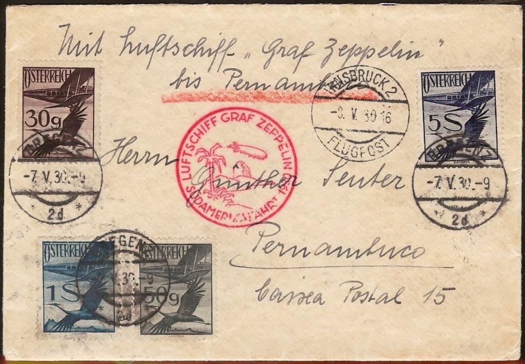 nach - Zeppelinpost aus/nach Österreich 57_k_o11