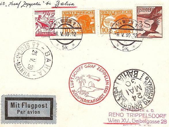 nach - Zeppelinpost aus/nach Österreich 57_l_o11