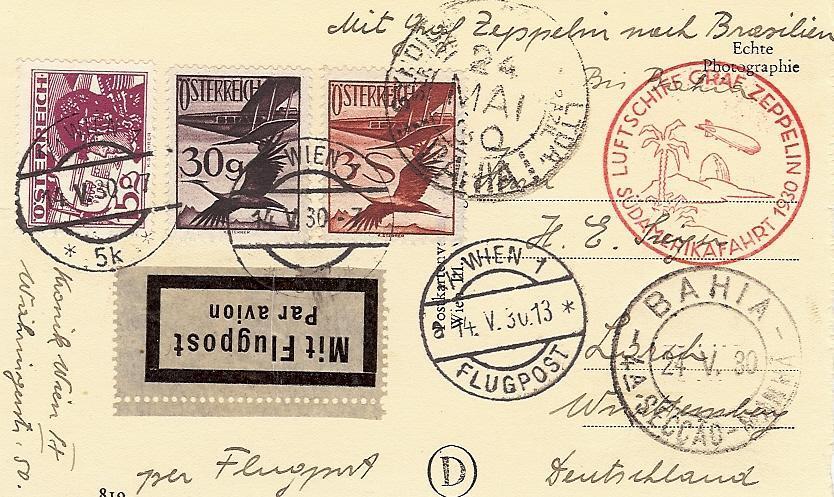 nach - Zeppelinpost aus/nach Österreich 57_l_o12