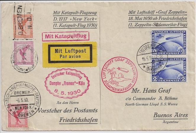 """Katapultpost ab S.S. """"Bremen"""" 57_m_k10"""
