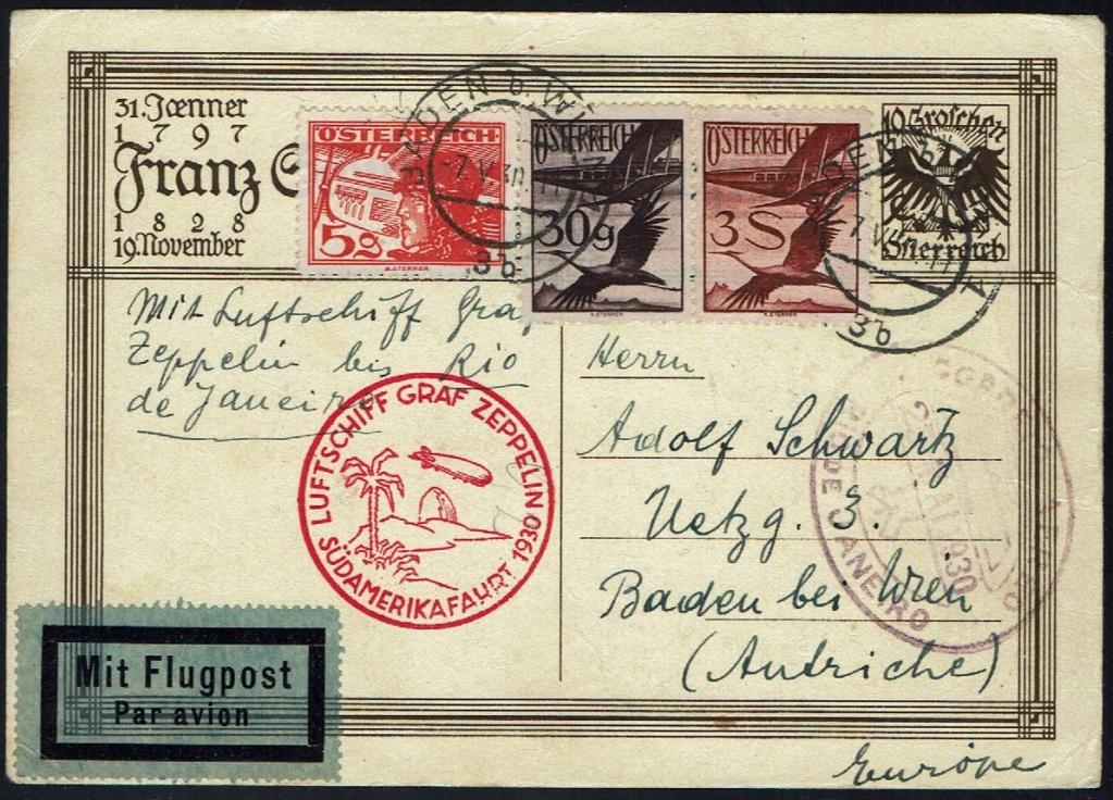 nach - Zeppelinpost aus/nach Österreich 57_m_o10