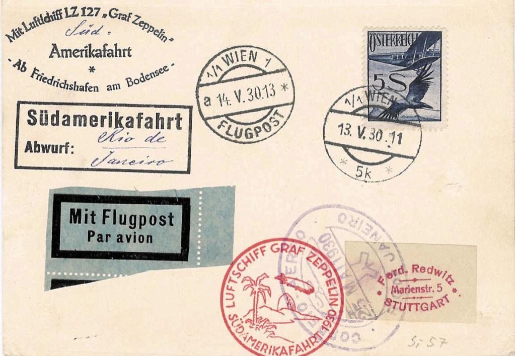nach - Zeppelinpost aus/nach Österreich 57_m_o11