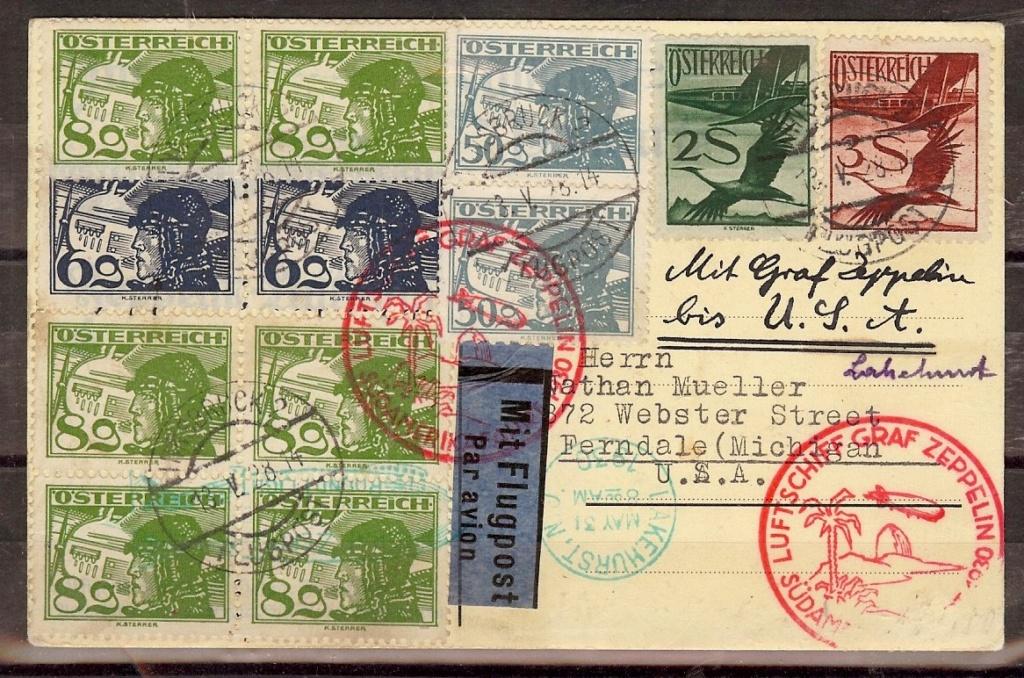 nach - Zeppelinpost aus/nach Österreich 57_n_o10