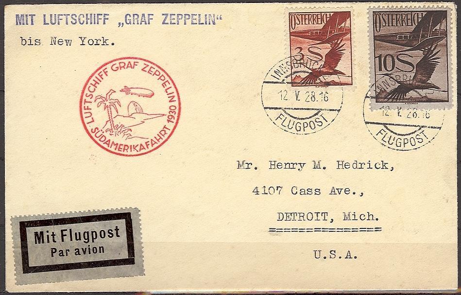nach - Zeppelinpost aus/nach Österreich 57_n_o12