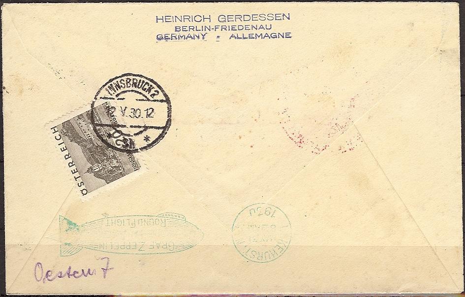 nach - Zeppelinpost aus/nach Österreich 57_n_o13