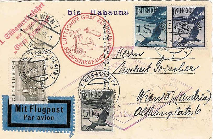 nach - Zeppelinpost aus/nach Österreich 57_nn_11
