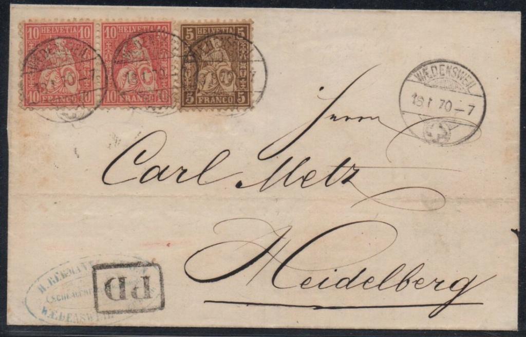 SBK 30+38 Brief ins Großherzogtum Baden von 1870 Ch-hd_15