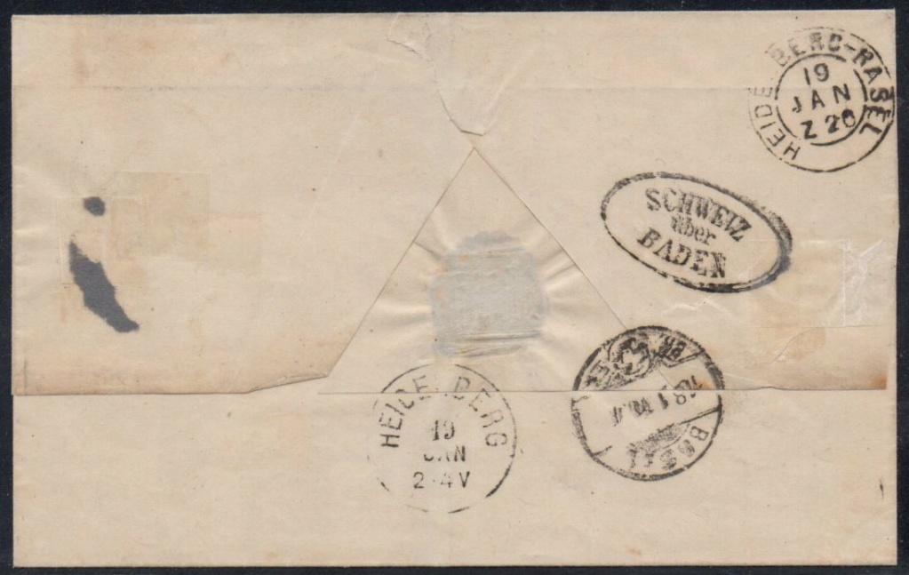 SBK 30+38 Brief ins Großherzogtum Baden von 1870 Ch-hd_16