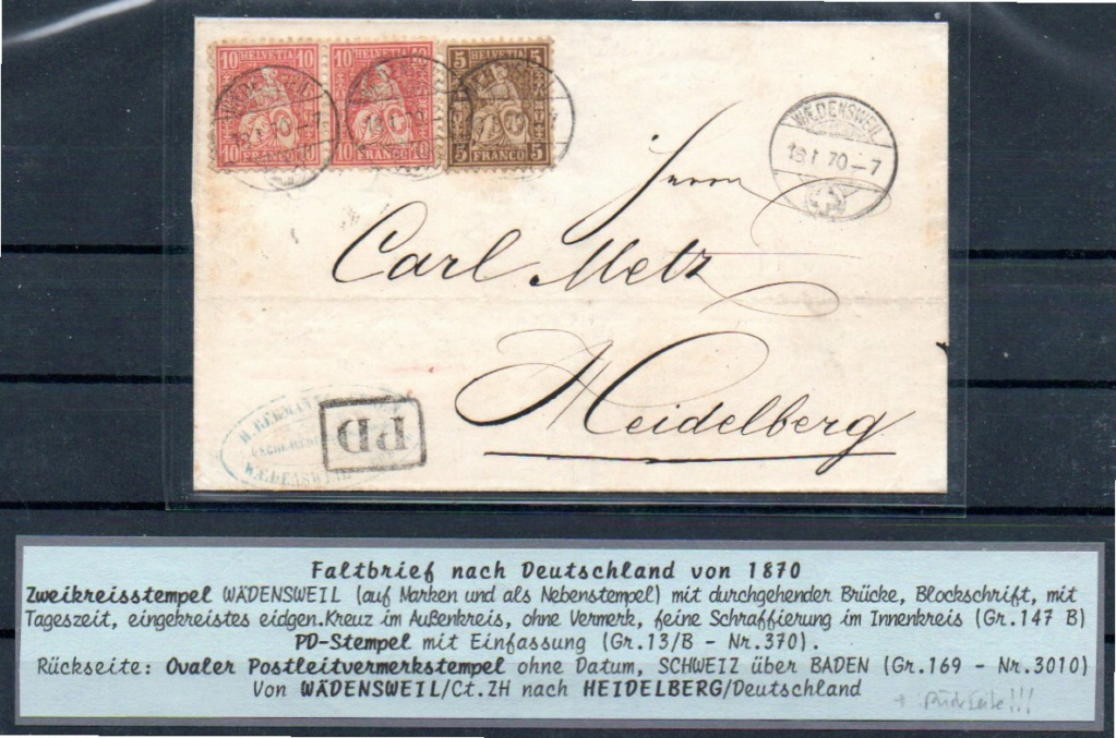 SBK 30+38 Brief ins Großherzogtum Baden von 1870 Ch-hd_17