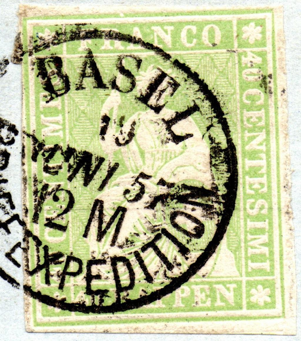 Brief aus Basel ins Großherzogtum Baden 1857 Ch_17i13