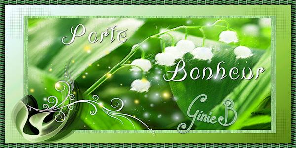 JE PORTE BONHEUR (écriture en rond) Ginie585