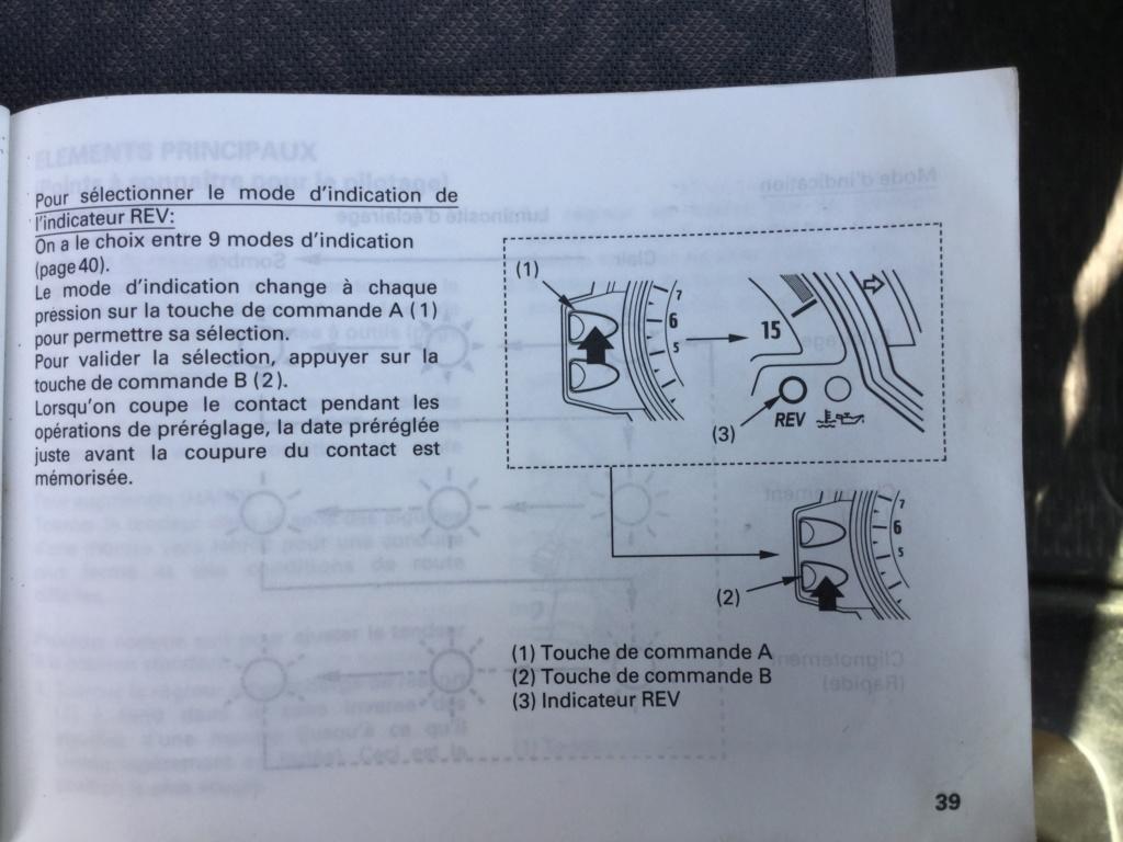 Comment régler shift light CBR 1000RR année 2009? Aca58310