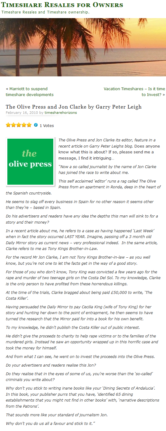 Disgraced Olive Press Editor, Jon Clarke, and his THIRD version of the same story - Page 2 Scree110