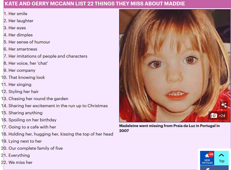 Madeleine McCann's parents reveal torment as they face 13th Christmas without 'hugging' their missing daughter Scree371