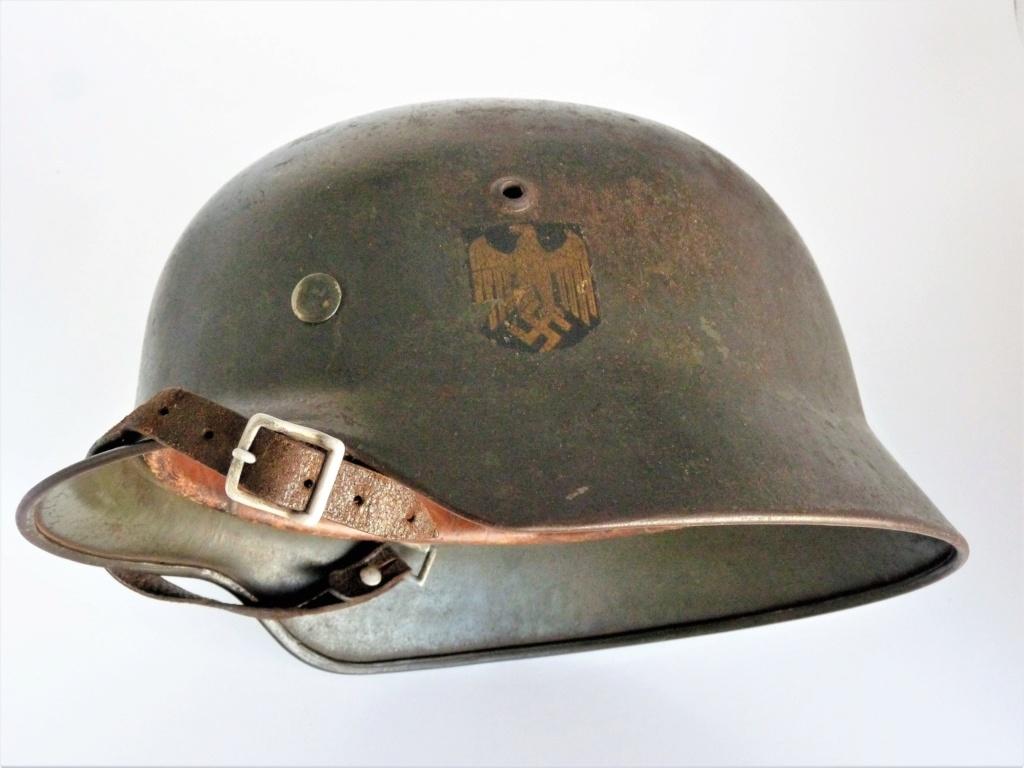 Casque Allemand Kriegsmarine Modèle 35-Et66-N°4373 0116