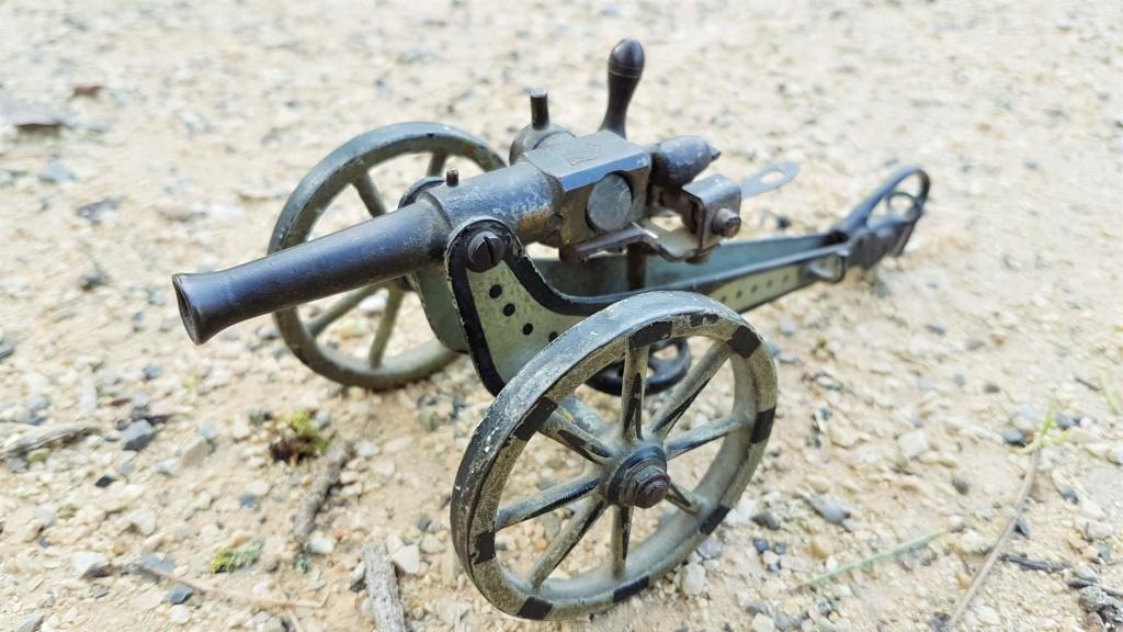 jouet ancien, canon de campagne 0125