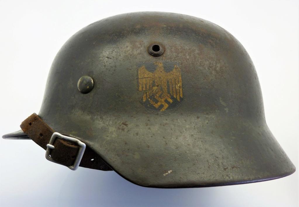 Casque Allemand Kriegsmarine Modèle 35-Et66-N°4373 0215
