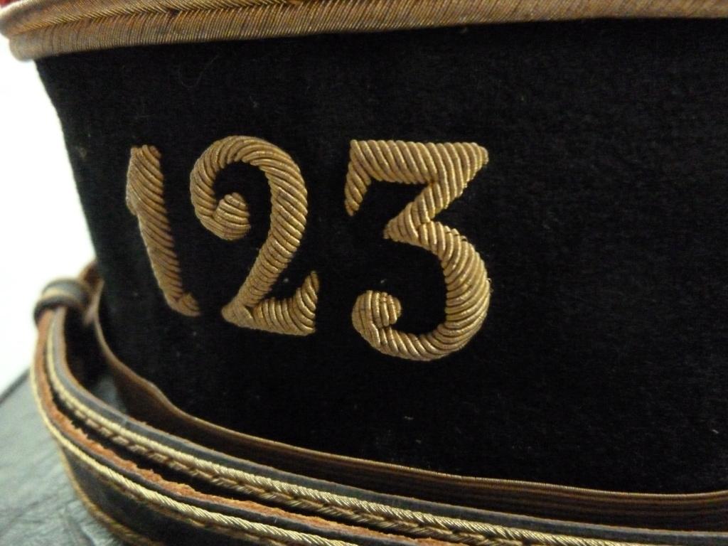 Képi foulard modèle 1886 de capitaine du 123 RI. 0231