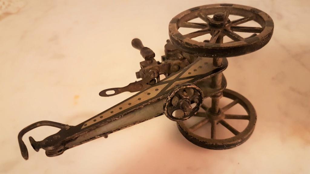 jouet ancien, canon de campagne 0320