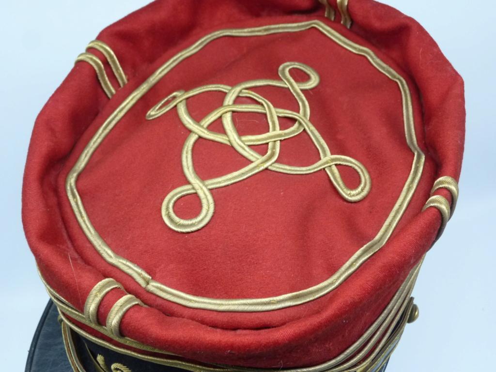 Képi foulard modèle 1886 de capitaine du 123 RI. 0326