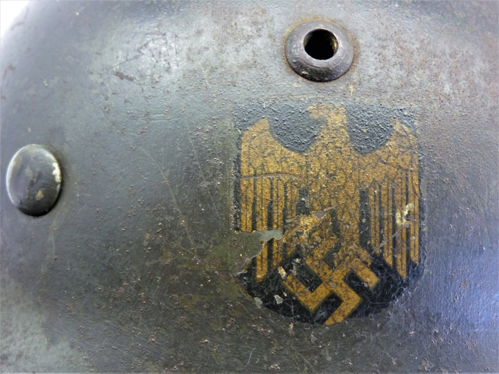 Casque Allemand Kriegsmarine Modèle 35-Et66-N°4373 0413
