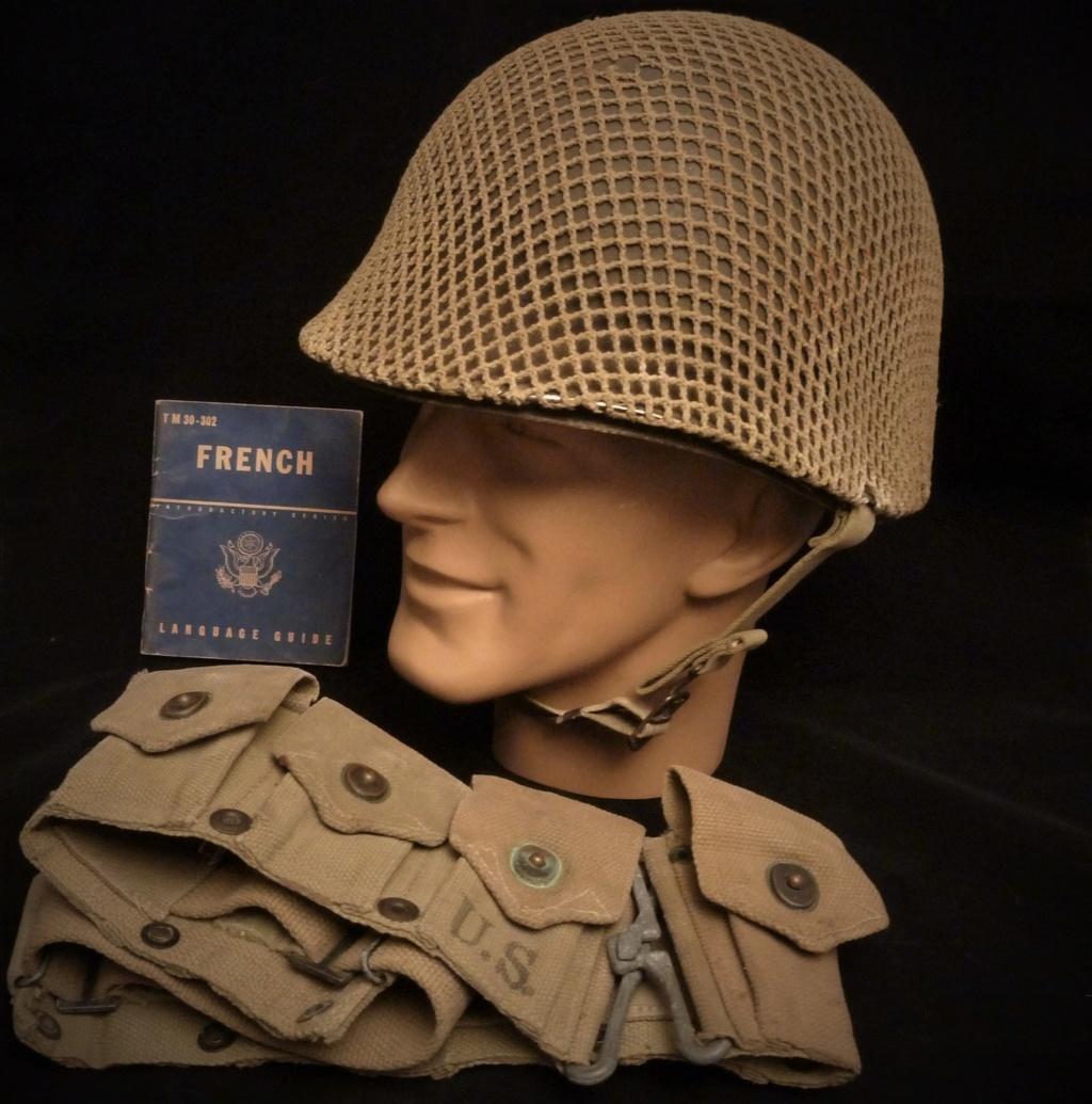Casque Américain avec filet et cartouchière M-1923 P1280910
