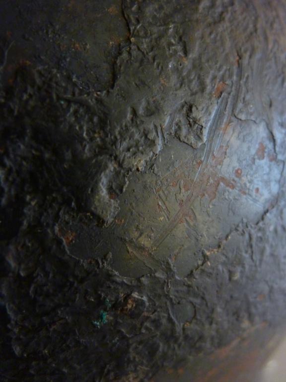 Casque LW bétonné avec insigne du premier type P1300716