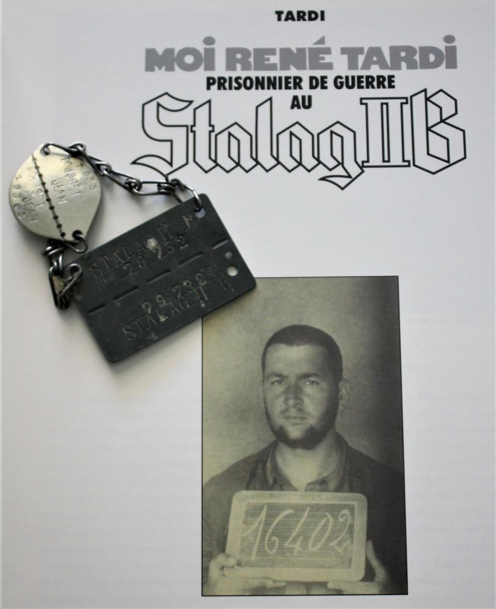 Plaque de prisonnier au STALAG IIB + plaque de soldat associé Tardi10