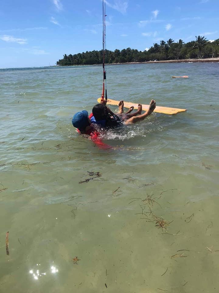 Après la Guyane, démarrage du Tandem Handi Kite en Guadeloupe H210