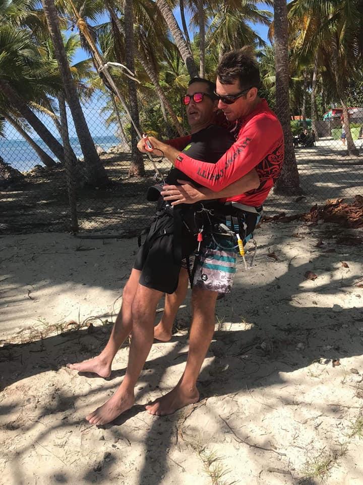 Après la Guyane, démarrage du Tandem Handi Kite en Guadeloupe H710