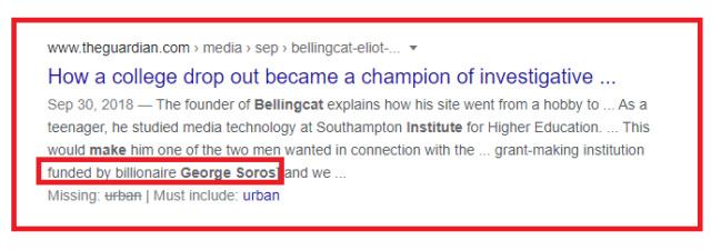 george Soros - Bellingcat media en bijna alle kranten inclusief de regering zijn in handen van George Soro's. Funded10