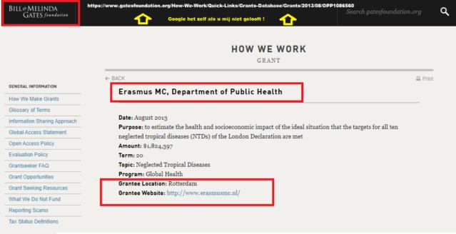 Erasmus MC Department of Public Health Rotterdam word gefinancieerd door Bill & Melinda Gates Foundation. Google10